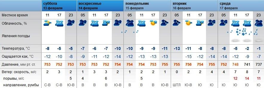 Погода в узловой на три дня