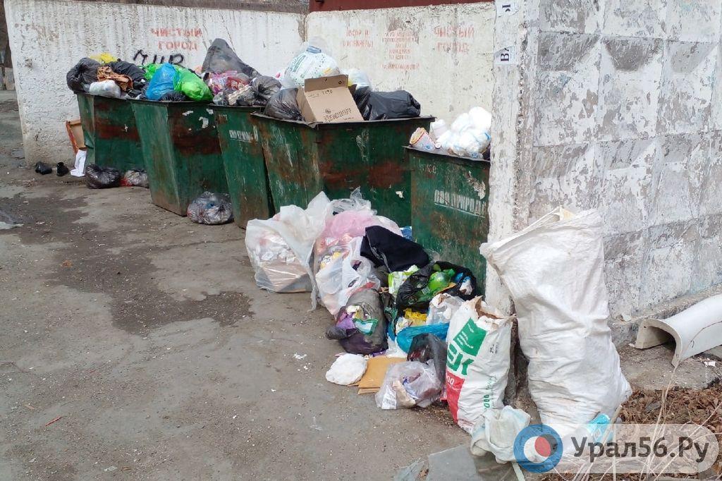 Орск завалило мусором: власти обещают проверить график его вывоза с контейнерных площадок