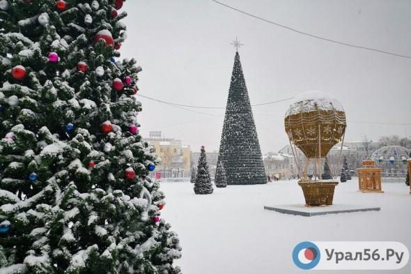 В Оренбурге новогодний городок на площади им. Ленина будет работать до 25 января