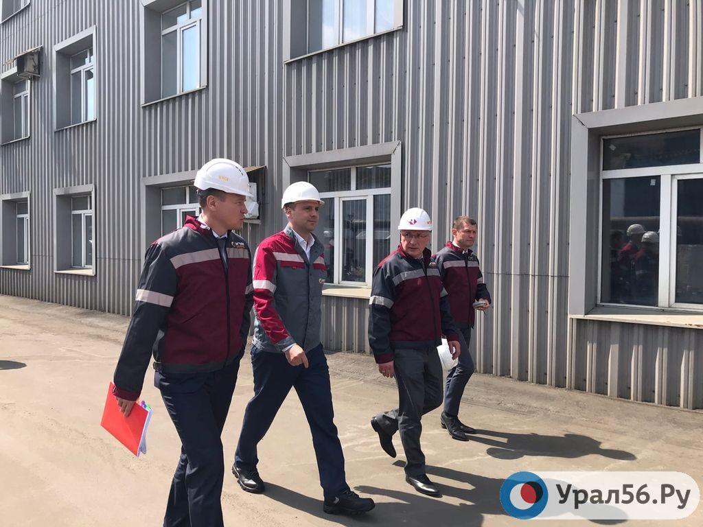 Денис Паслер приехал на комбинат в Медногорске, где погиб рабочий