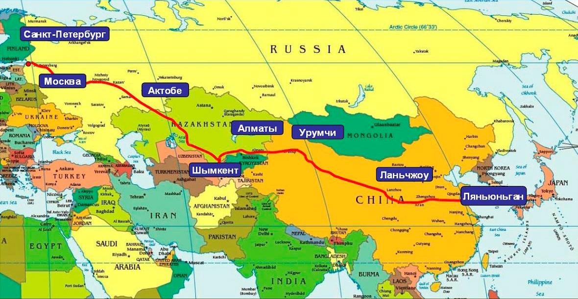 Transportnyj Koridor Evropa Zapadnyj Kitaj Prohodyashij Cherez